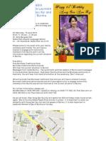 Celebrating the 65th Birthday of Noble Laureate Daw Aung San Suu Kyi and Women