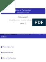 A17 - Factoring Polynomials, Inverses VJ