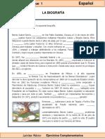 6to Grado - Español - La biografía.pdf