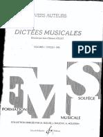 Dictees Musicales Vol1 Prof