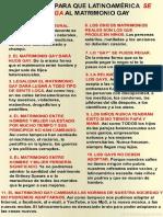 10 Razones Contra en Matrimonio Gay en LA