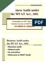 Business Audit Under MVAT Act