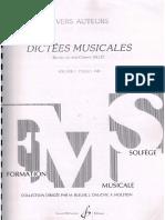 Dictees Musicales Vol1 Aluno