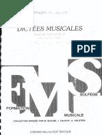 Dictees Musicales Vol2 Aluno