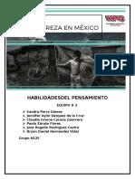 Habilidadesdel Pensamiento Pobreza en Mexico