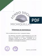 Términos de Referencia Paquete Perfil y Expediente Técnico Sector Tuyupampa