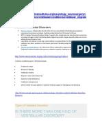 Types of Vestibular Disorders