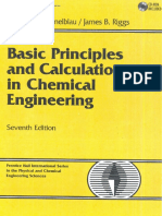 Basic Principles & Calculations in Chemical Engineering 7e Himmelblau