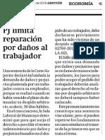 PJ Limita Reparación Por Daños Al Trabajador