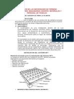 Estimación de Las Necesidades de Terreno y Construcciones