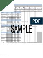 Sample Budget Summary Sheet