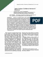 Euclidean Distance Matrix Analysis