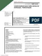 NBR05440 - 1999 - Transformadores Para Rede Aereas de Distribuicao - Padronizacao
