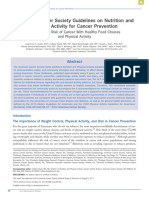 2012 ACS - American Cancer Society Guidelines on Nutrition and Physical Activity for Cancer Prevention