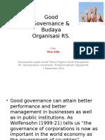 Good Governance Budaya Organisasi RS