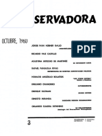 La tercera edición de Revista Conservadora No. 3 Oct. 1960