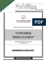 Aprueban Directiva Control Simultáneo