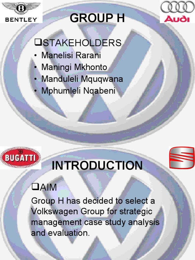 volkswagens management strategies essay