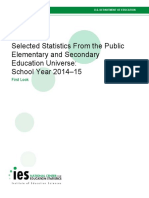 Selected Statistics From the Public Elementary and Secondary Education Universe: School Year 2014–15