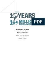 Wiki Leaks 10 Yrs Press Pack
