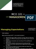 Mba Mco101 Unit 6