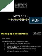 Mba Mco101 Unit 3