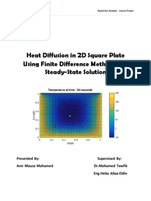 2D Heat Equation Code Report | Finite Difference | Logical Truth