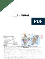 Chennai - Weather Data Analysis