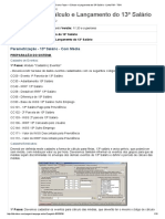 Como Fazer – Cálculo e Lançamento Do 13º Salário - Linha RM - TDN