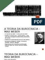 Teoria Da Burocracia - Aula 1