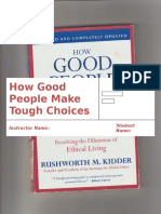 Book Review(How Good People Make Tough Choices)