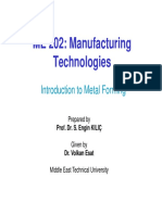 MECH202 - 2015-16 FALL - L05 - Intro to Metal Forming