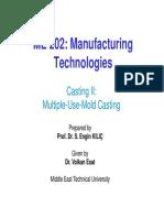 Mech202 - 2015-16 Fall - l03 - Casting II