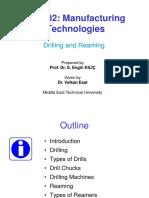 MECH202 - 2015-16 FALL - L10 - Drilling Reaming