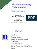 MECH202 - 2015-16 FALL - L11 - Turning Boring