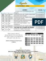 Agenda Região - Outubro 2016