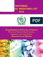 National Essential Medicines List 2016 Reduced