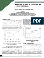 2 - Problemas en La Separacion de Fases en Extraccion Por Solvente de Cobre - p Navarro s Jara j Castillo
