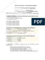 Atividades de Língua Portuguesa_concordância Nominal