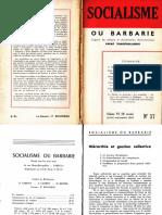 Socialisme Ou Barbarie 37 Juillet-septembre 1964