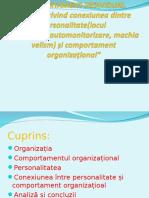 Personalitate Si Comportament Organizational2
