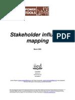 IAP - Stakeholdert Influence Mapping