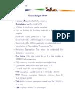 Union Budget 08