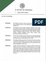 GA Gov. State of Emergency - Hurricane Matthew - Oct 4 2016