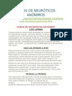 IV. Lemas de Neuróticos Anónimos