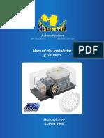 Manual de Motor de Porton Espanol