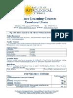 Distance Learning Enrolment Form June 2014