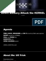 DEFCON 24 Ulf Frisk Direct Memory Attack the Kernel