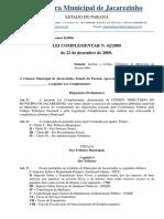 Câmara Municipal - Lei Complementar Nº 42 de 2009