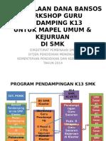 Presentasi Pengelolaan Dana Bansos Workshop Pendampingan K13 SMK